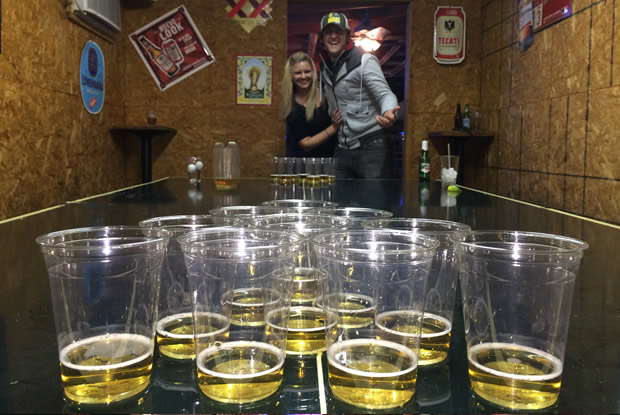Pool hall and beer pong in Fredericksburg, texas